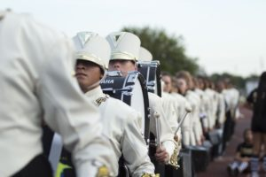 A marching band.