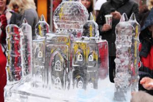 An ice sculpture of a palace