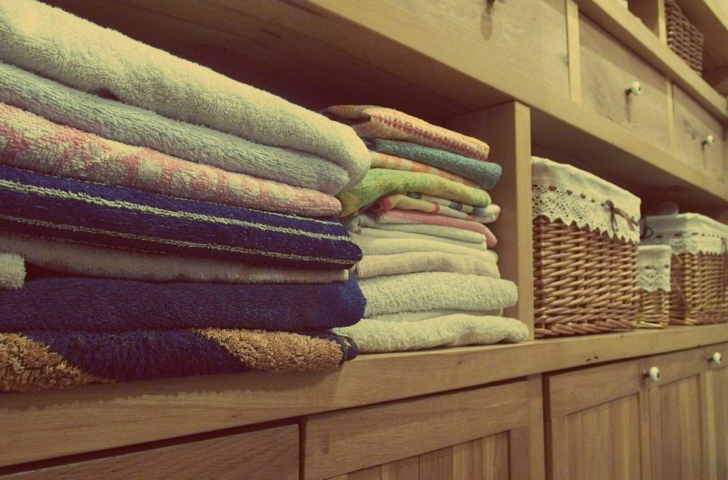 towels in a laundry room